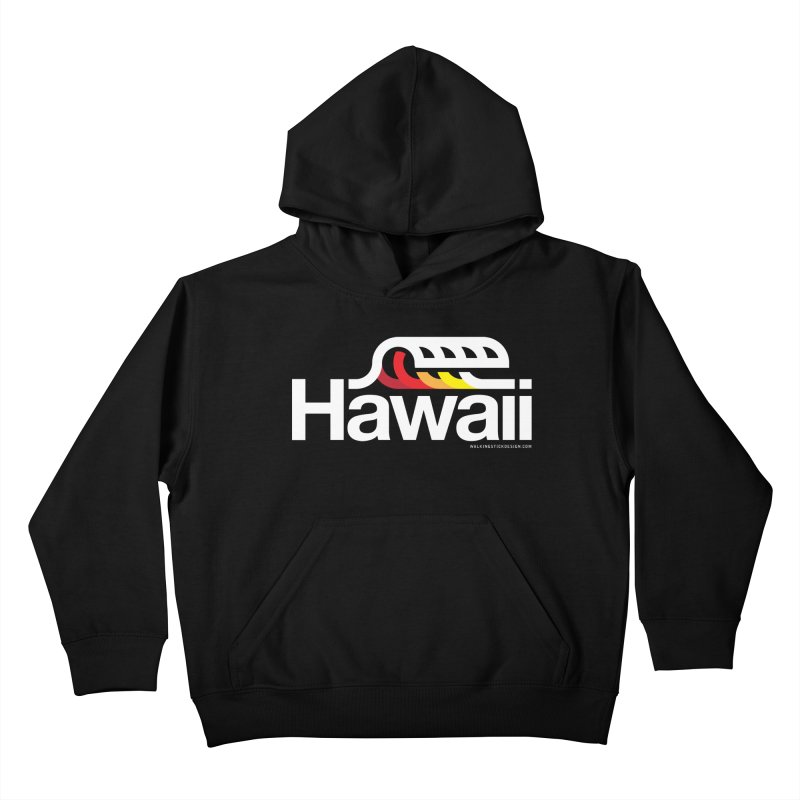 Hawaii Wave Kids Pullover Hoody by WalkingStick Design's Artist Shop