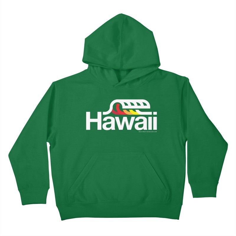 Hawaii Wave Kids Pullover Hoody by walkingstickdesign's Artist Shop