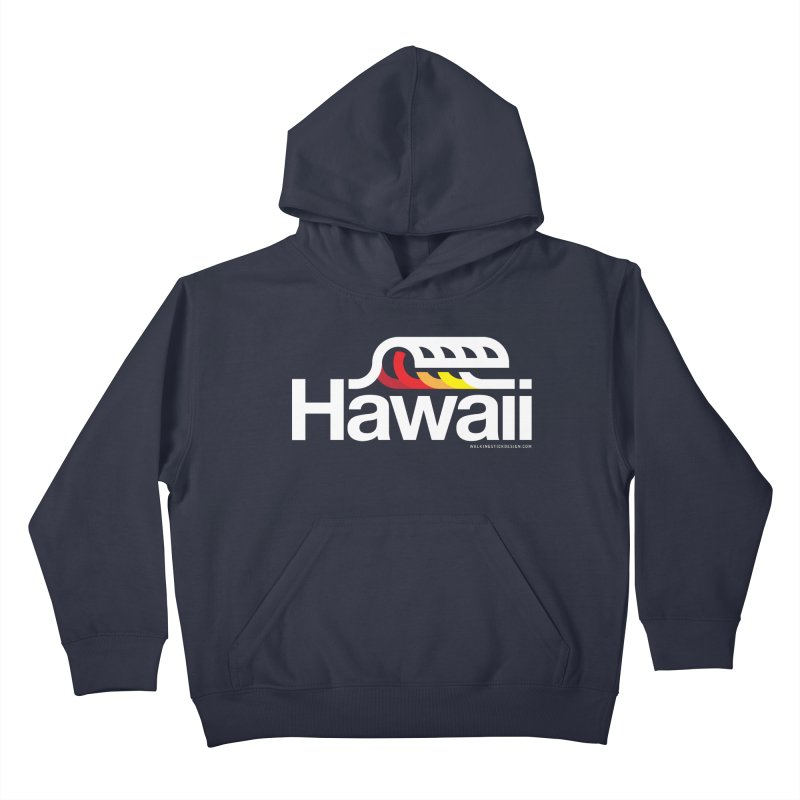 Hawaii Wave Kids Pullover Hoody by walkingstickdesign's Artist Shop