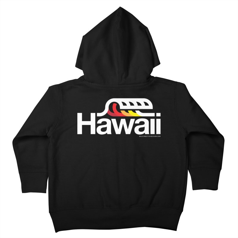 Hawaii Wave Kids Toddler Zip-Up Hoody by WalkingStick Design's Artist Shop