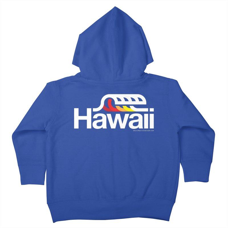 Hawaii Wave Kids Toddler Zip-Up Hoody by walkingstickdesign's Artist Shop