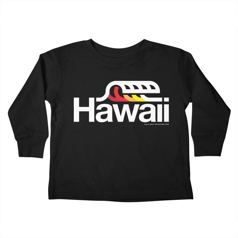 Hawaii Wave Kids Toddler Longsleeve T-Shirt by WalkingStick Design's Artist Shop