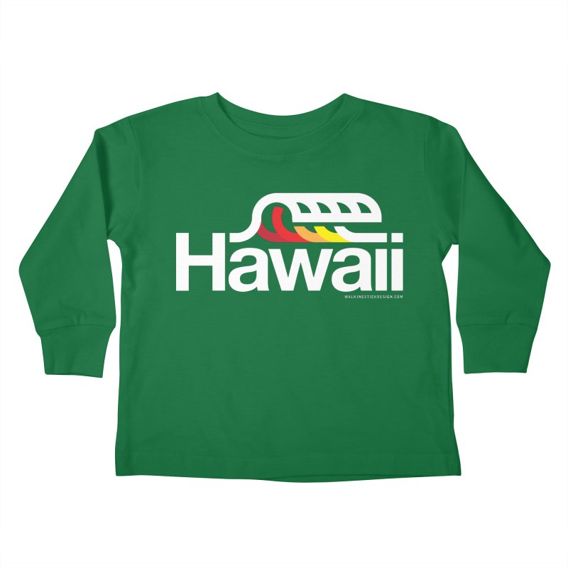 Hawaii Wave Kids Toddler Longsleeve T-Shirt by walkingstickdesign's Artist Shop