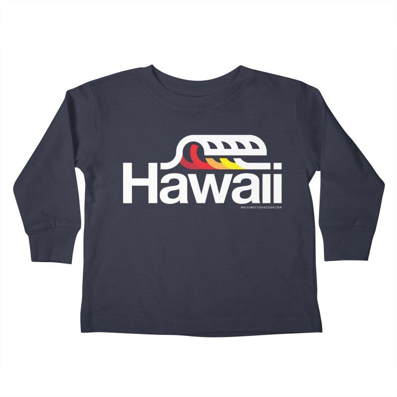 Hawaii Wave Kids Toddler Longsleeve T-Shirt by walkingstickdesign's Artist Shop