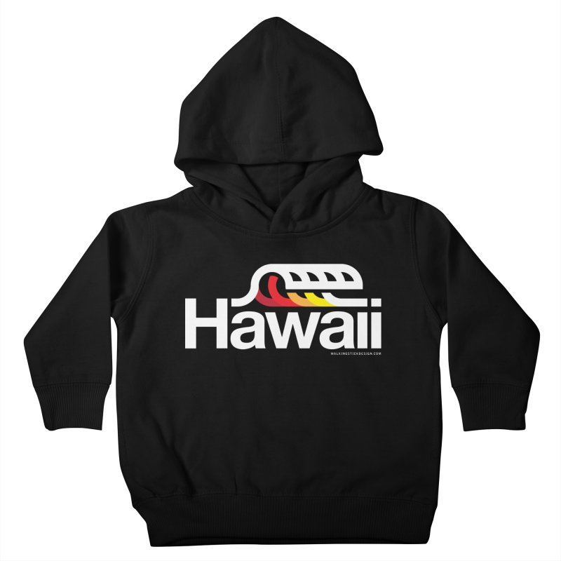 Hawaii Wave Kids Toddler Pullover Hoody by walkingstickdesign's Artist Shop