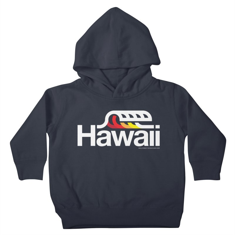 Hawaii Wave Kids Toddler Pullover Hoody by WalkingStick Design's Artist Shop