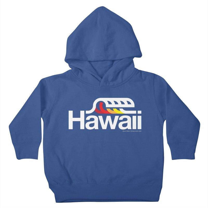 Hawaii Wave Kids Toddler Pullover Hoody by walkingstickdesign's Artist Shop