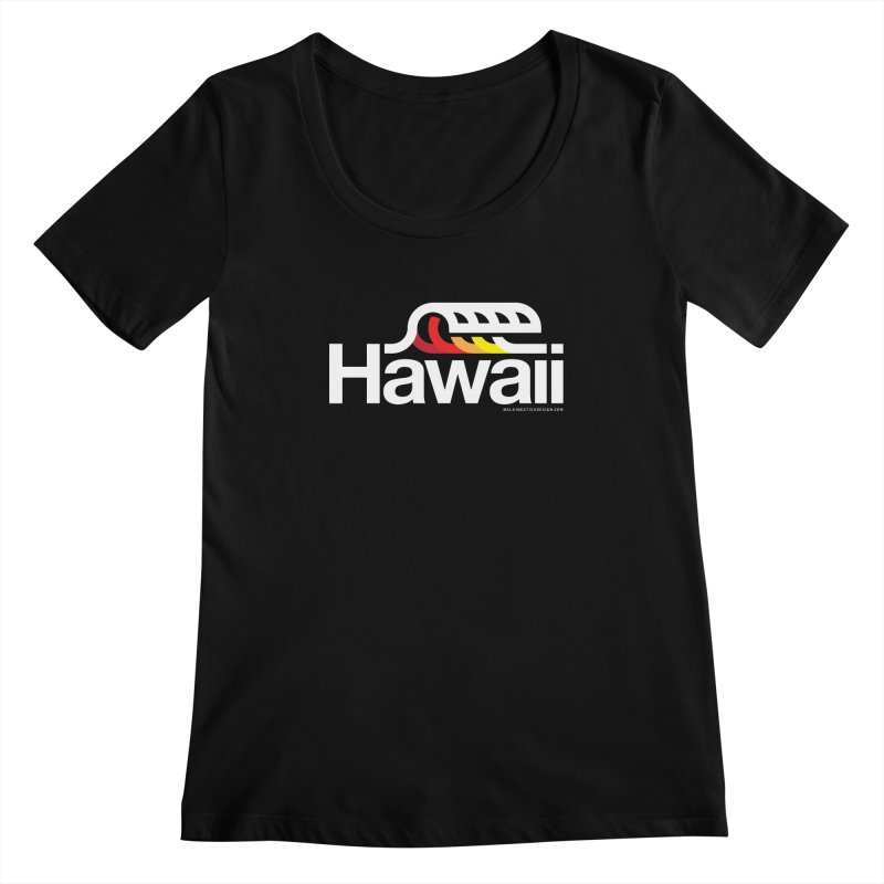Hawaii Wave Women's Regular Scoop Neck by walkingstickdesign's Artist Shop