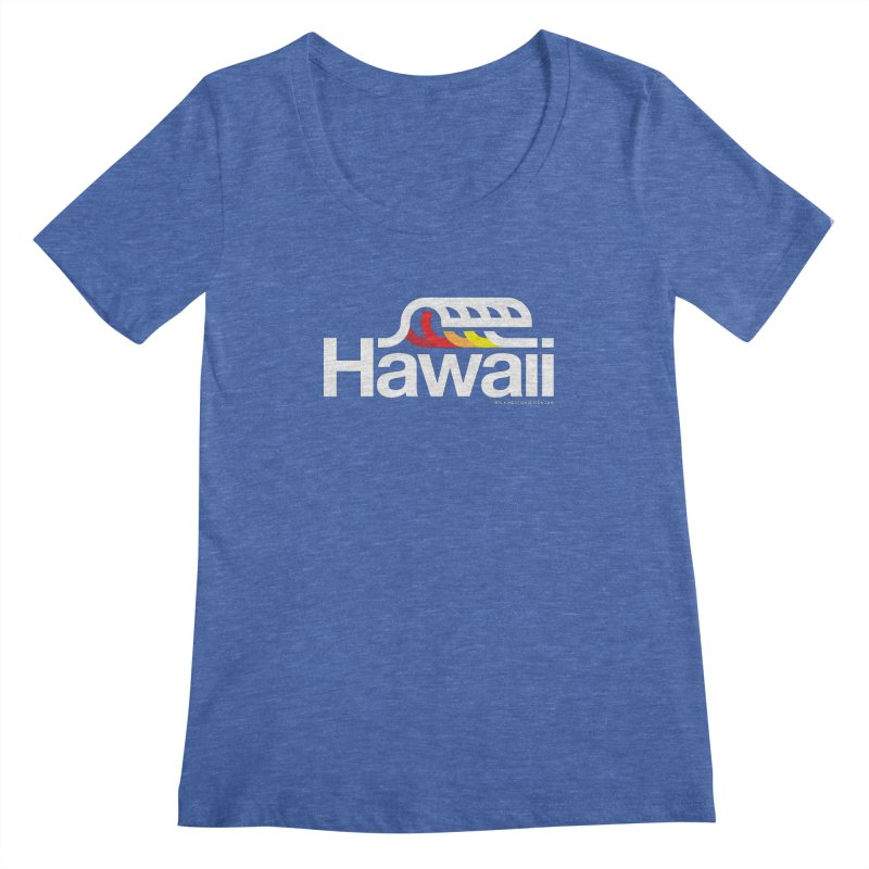 Hawaii Wave Women's Scoopneck by walkingstickdesign's Artist Shop