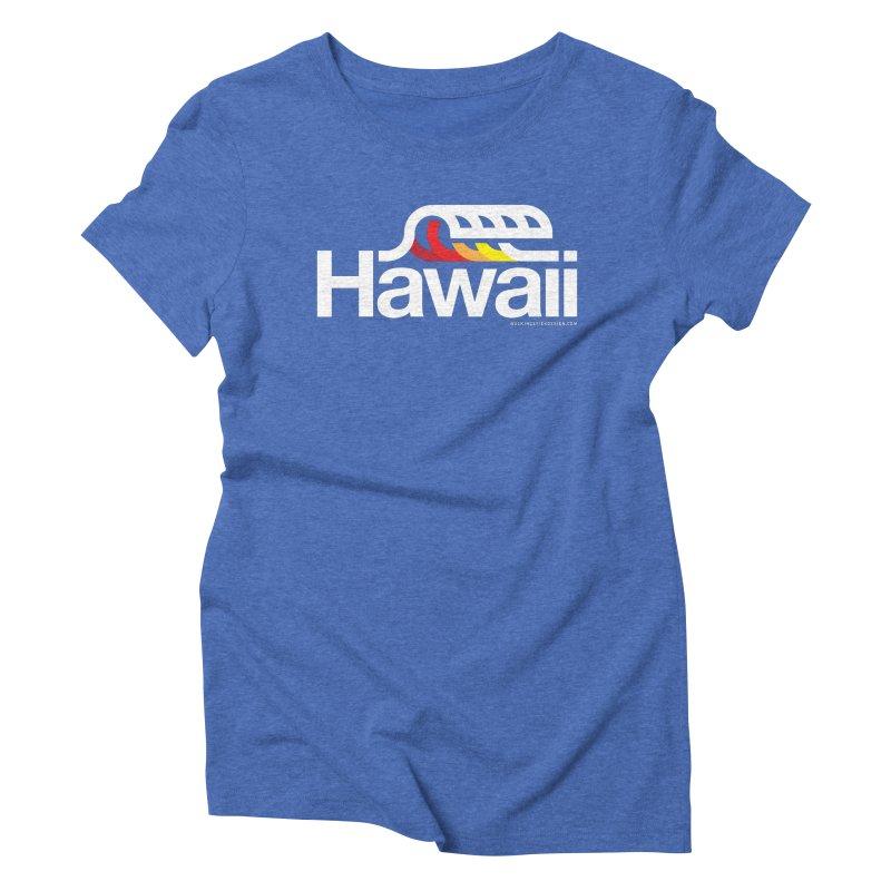 Hawaii Wave Women's Triblend T-Shirt by walkingstickdesign's Artist Shop