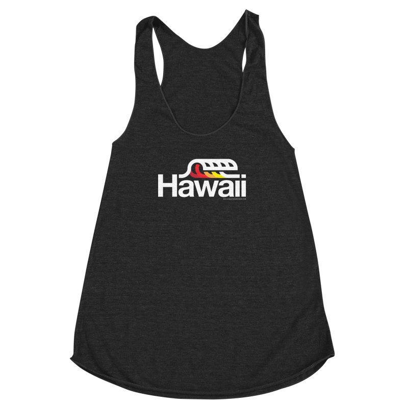 Hawaii Wave Women's Racerback Triblend Tank by walkingstickdesign's Artist Shop