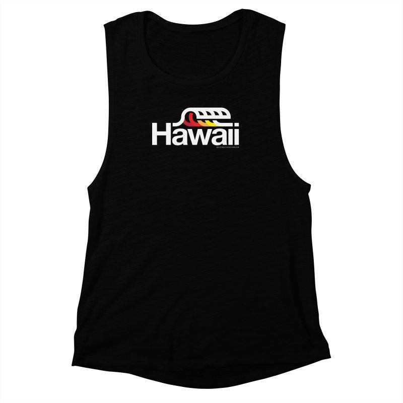 Hawaii Wave Women's Muscle Tank by walkingstickdesign's Artist Shop