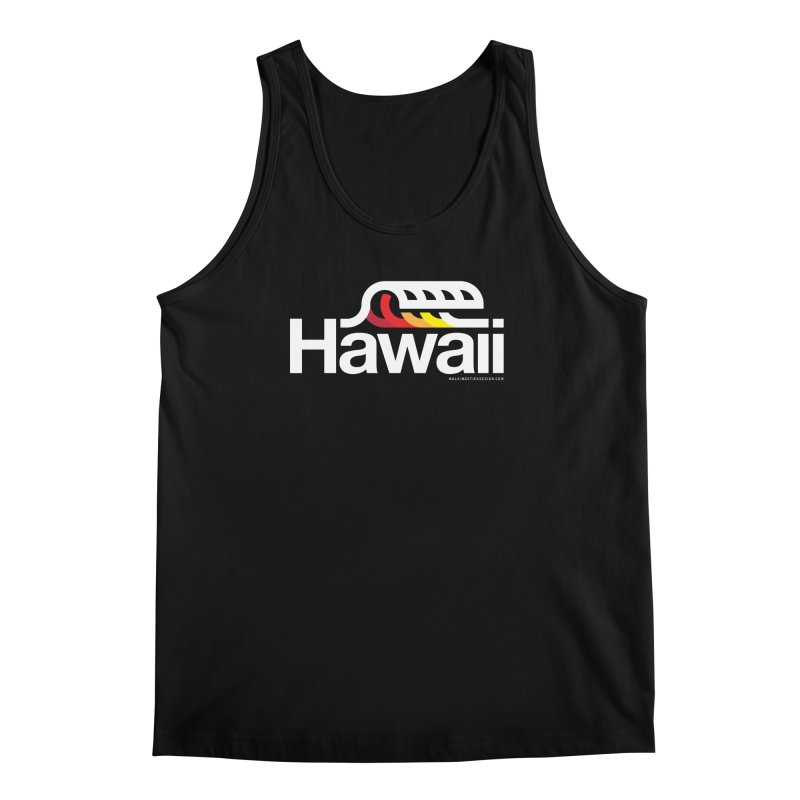 Hawaii Wave Men's Regular Tank by WalkingStick Design's Artist Shop