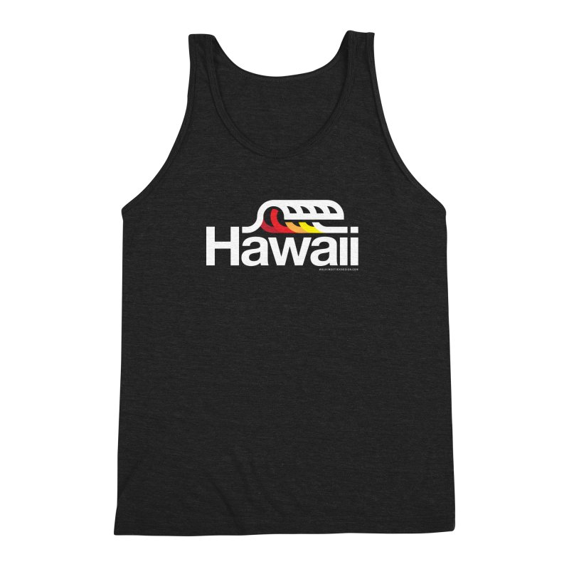 Hawaii Wave Men's Triblend Tank by WalkingStick Design's Artist Shop