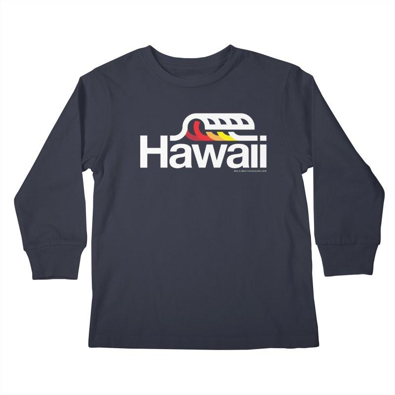 Hawaii Wave Kids Longsleeve T-Shirt by walkingstickdesign's Artist Shop