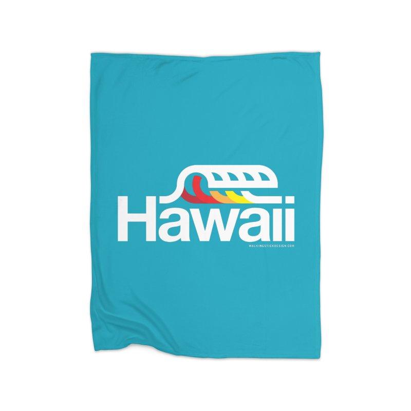 Hawaii Wave Home Blanket by walkingstickdesign's Artist Shop