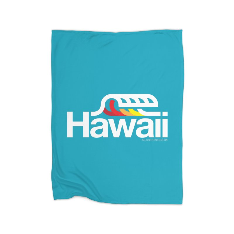 Hawaii Wave Home Blanket by WalkingStick Design's Artist Shop