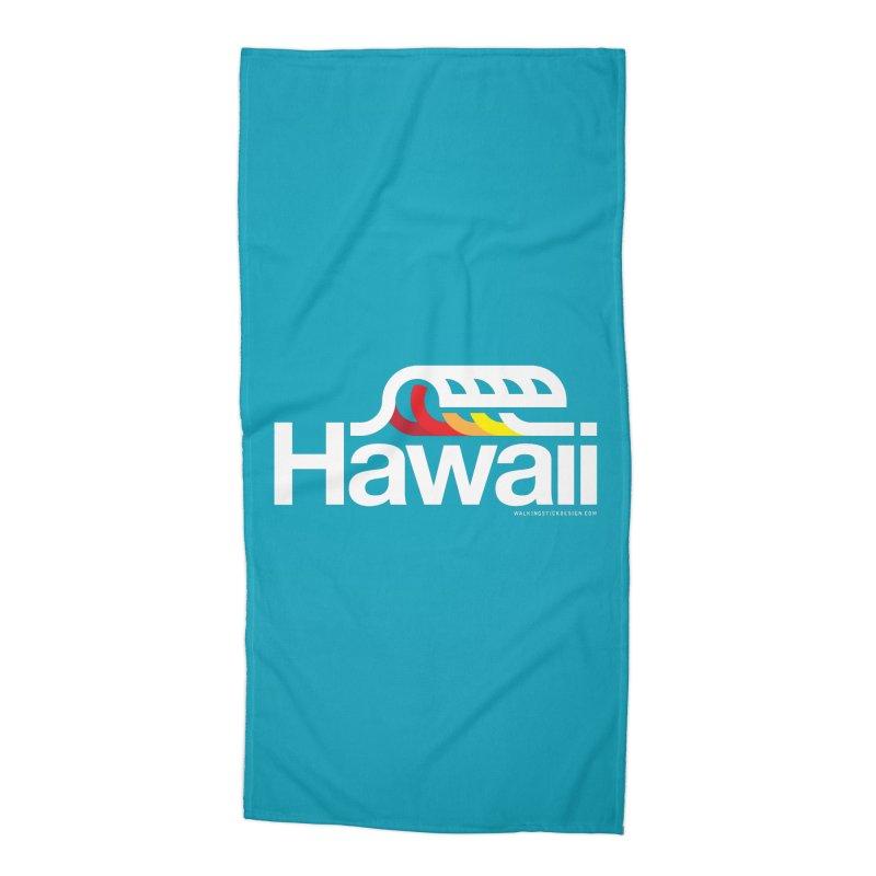 Hawaii Wave Accessories Beach Towel by WalkingStick Design's Artist Shop