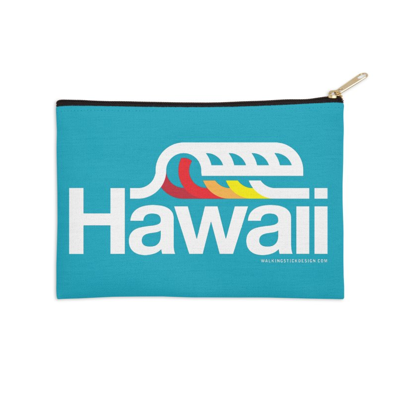 Hawaii Wave Accessories Zip Pouch by walkingstickdesign's Artist Shop
