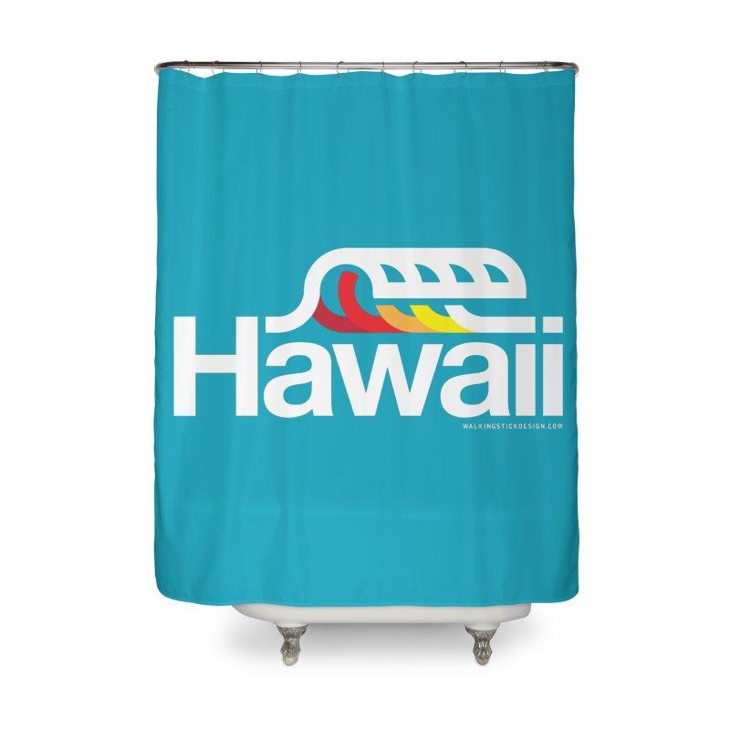 Hawaii Wave Home Shower Curtain by walkingstickdesign's Artist Shop