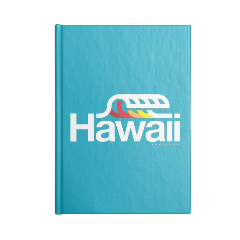 Hawaii Wave Accessories Notebook by walkingstickdesign's Artist Shop