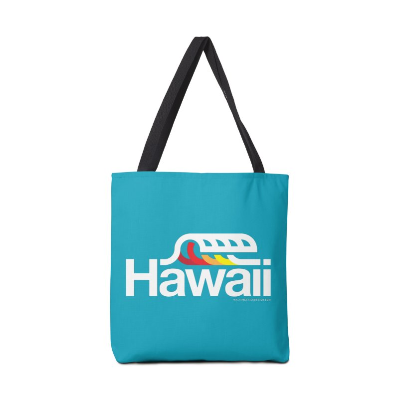 Hawaii Wave Accessories Bag by walkingstickdesign's Artist Shop