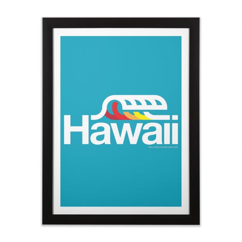 Hawaii Wave Home Framed Fine Art Print by WalkingStick Design's Artist Shop