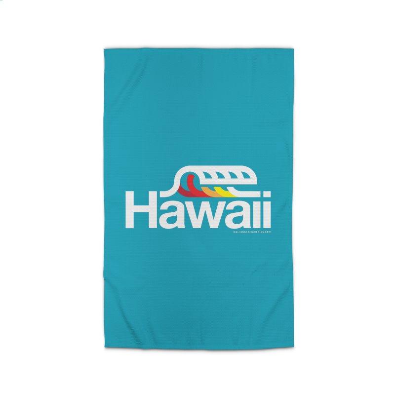 Hawaii Wave Home Rug by walkingstickdesign's Artist Shop