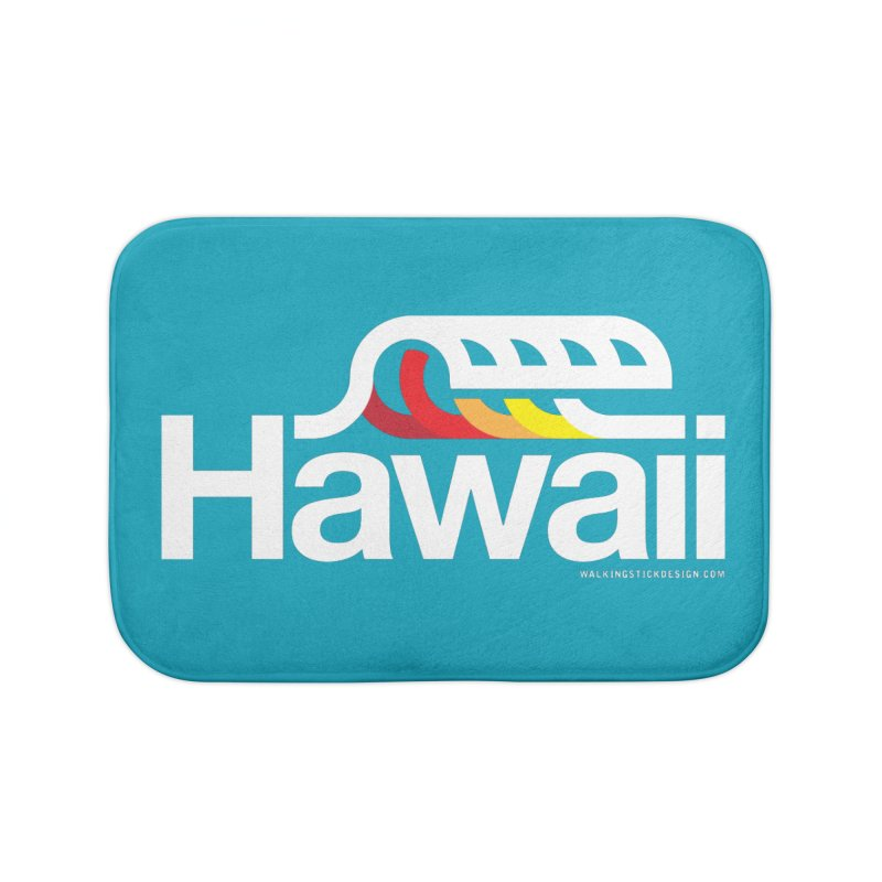 Hawaii Wave Home Bath Mat by walkingstickdesign's Artist Shop