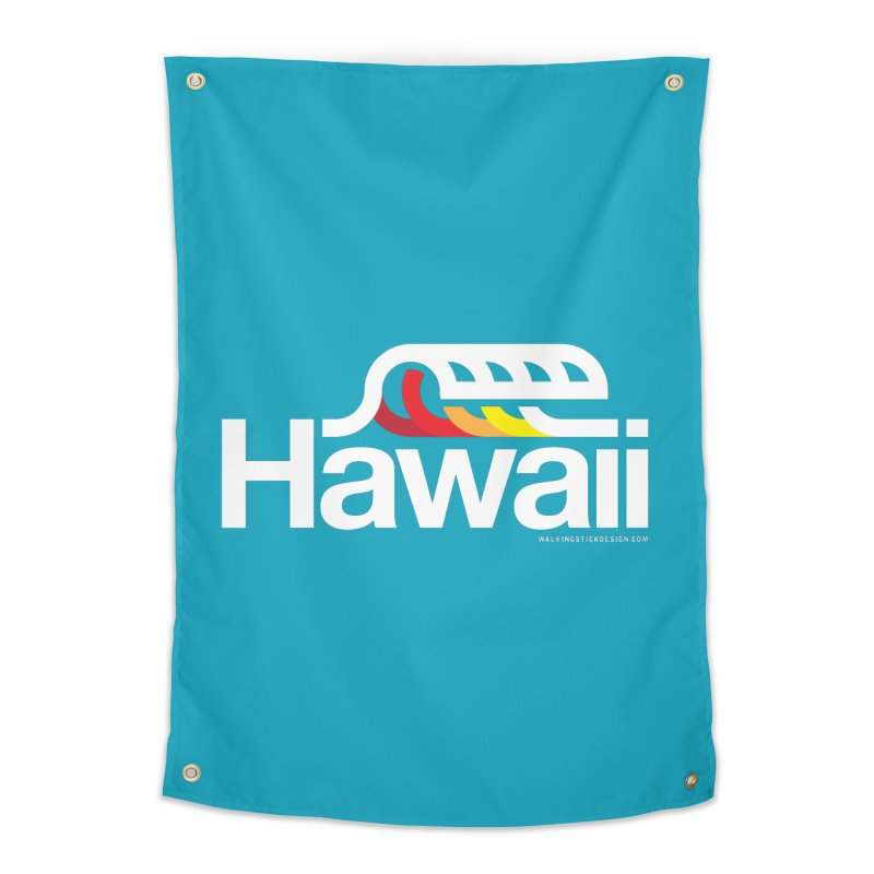 Hawaii Wave Home Tapestry by walkingstickdesign's Artist Shop