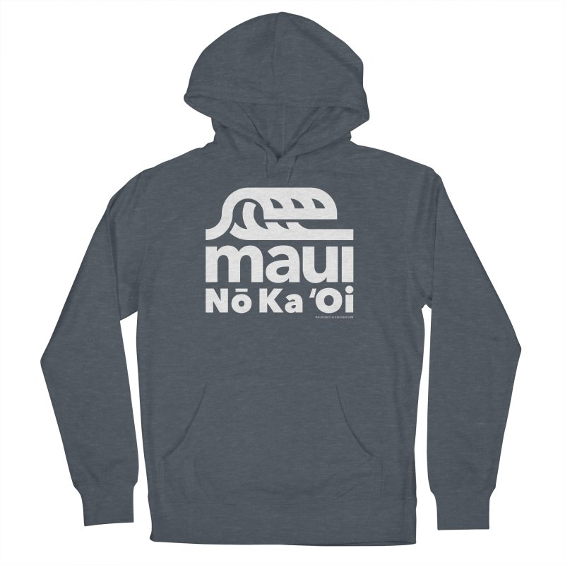 Maui Wave Men's French Terry Pullover Hoody by WalkingStick Design's Artist Shop