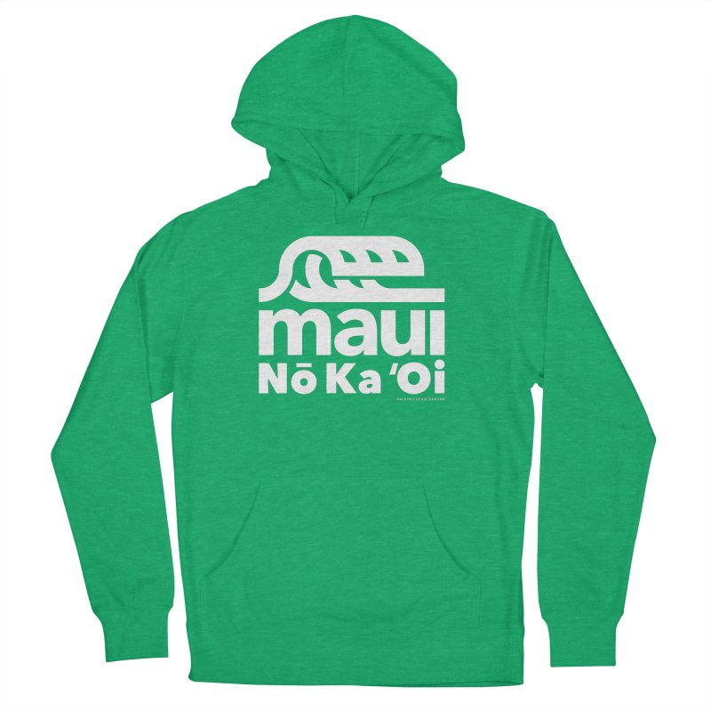 Maui Wave Men's French Terry Pullover Hoody by walkingstickdesign's Artist Shop