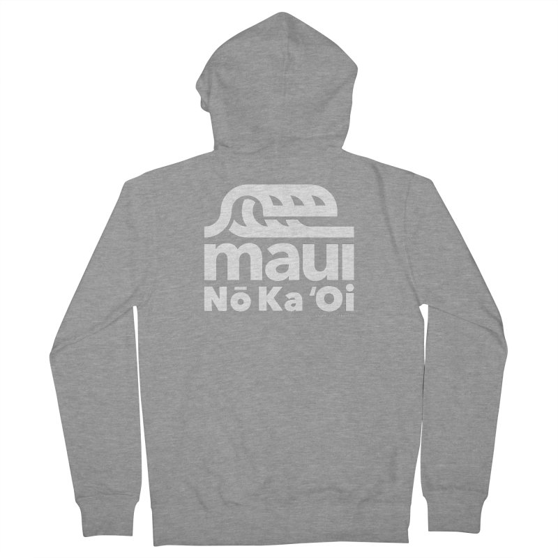 Maui Wave Women's French Terry Zip-Up Hoody by WalkingStick Design's Artist Shop
