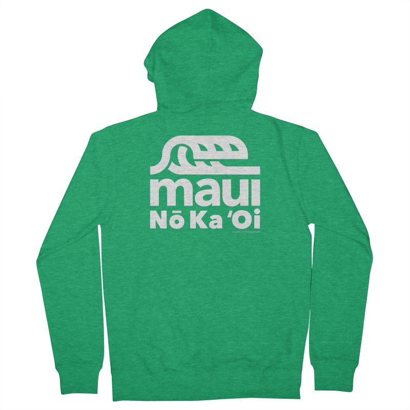 Maui Wave Men's French Terry Zip-Up Hoody by WalkingStick Design's Artist Shop