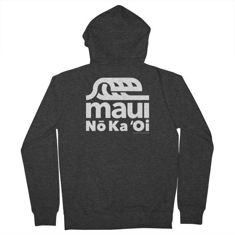 Maui Wave Men's French Terry Zip-Up Hoody by walkingstickdesign's Artist Shop