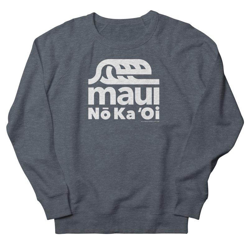 Maui Wave Men's French Terry Sweatshirt by walkingstickdesign's Artist Shop