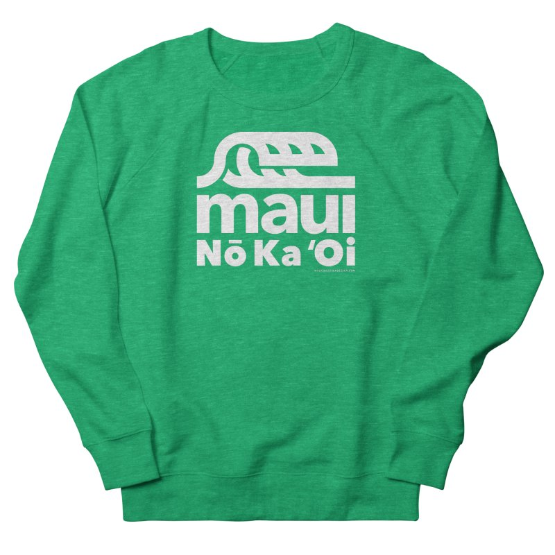 Maui Wave Men's French Terry Sweatshirt by WalkingStick Design's Artist Shop
