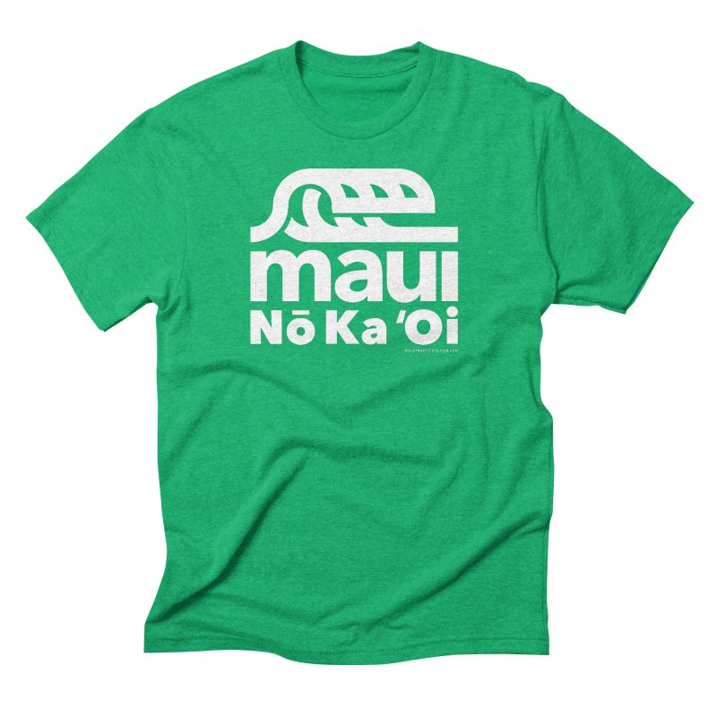 Maui Wave Men's Triblend T-Shirt by walkingstickdesign's Artist Shop
