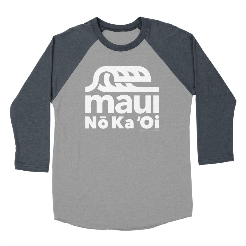 Maui Wave Men's Baseball Triblend T-Shirt by walkingstickdesign's Artist Shop