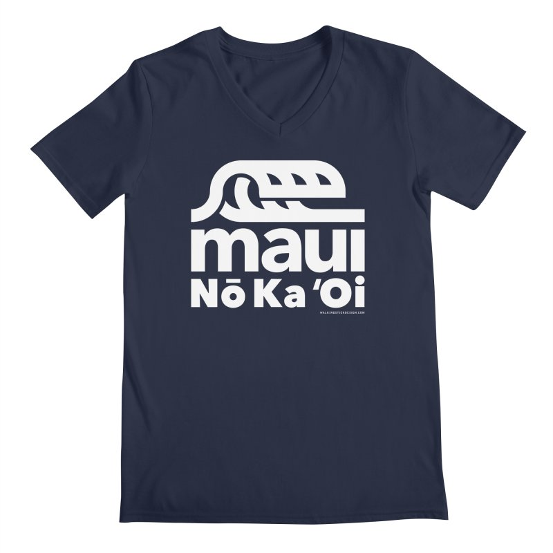 Maui Wave Men's Regular V-Neck by WalkingStick Design's Artist Shop
