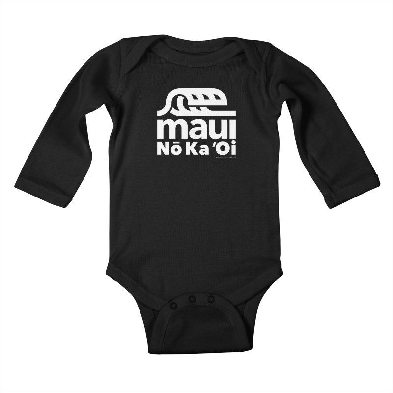 Maui Wave Kids Baby Longsleeve Bodysuit by WalkingStick Design's Artist Shop