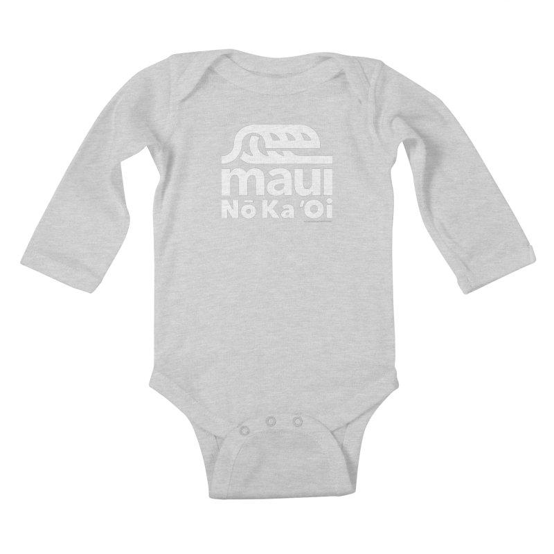 Maui Wave Kids Baby Longsleeve Bodysuit by walkingstickdesign's Artist Shop