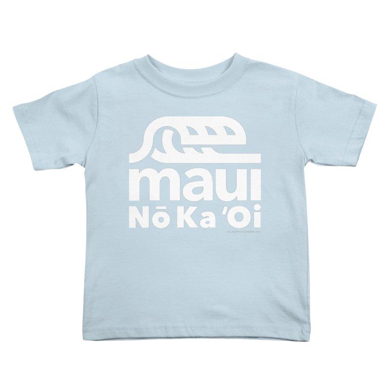 Maui Wave Kids Toddler T-Shirt by walkingstickdesign's Artist Shop