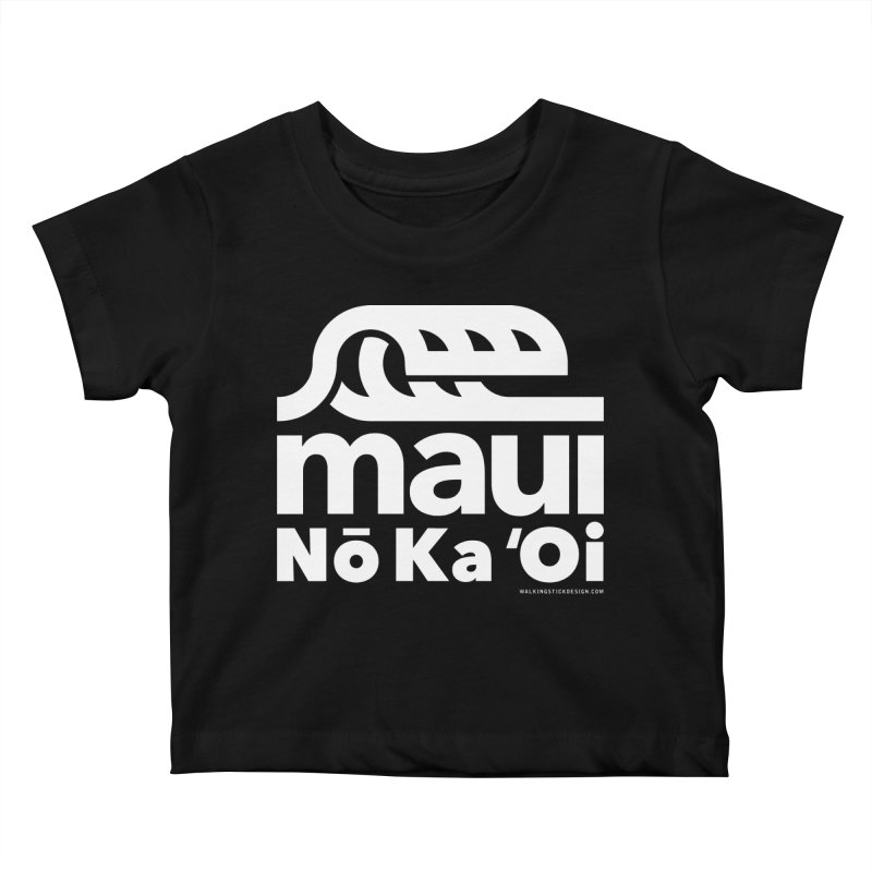 Maui Wave Kids Baby T-Shirt by walkingstickdesign's Artist Shop