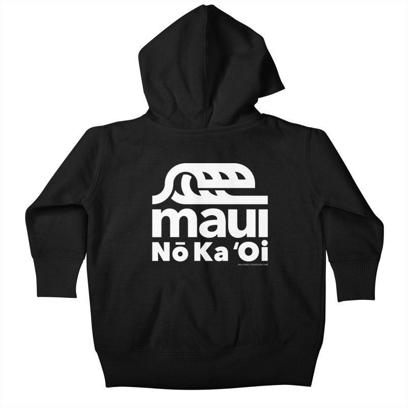 Maui Wave Kids Baby Zip-Up Hoody by WalkingStick Design's Artist Shop