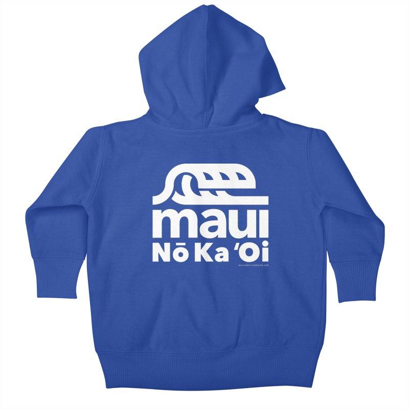 Maui Wave Kids Baby Zip-Up Hoody by walkingstickdesign's Artist Shop