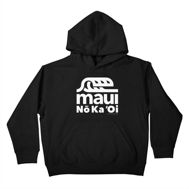 Maui Wave Kids Pullover Hoody by walkingstickdesign's Artist Shop