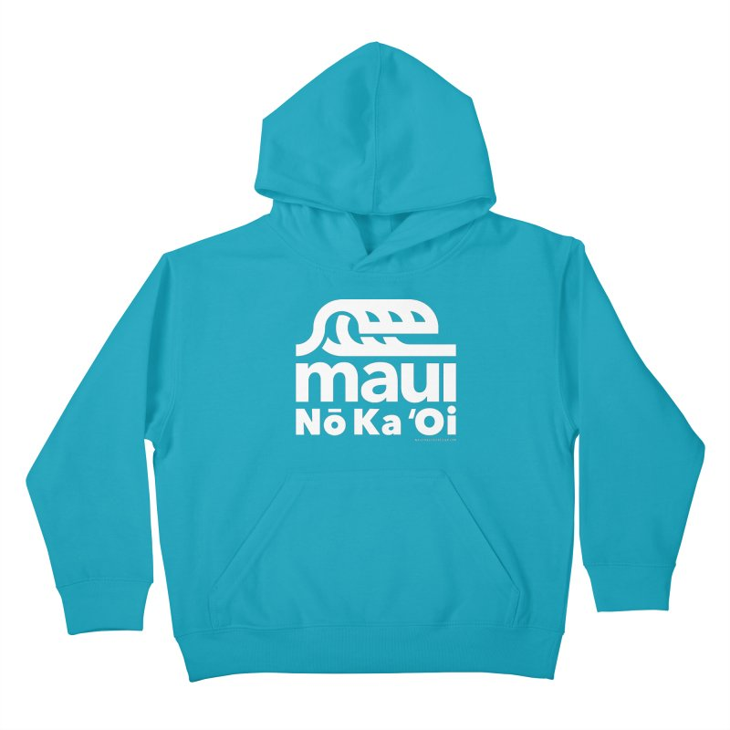 Maui Wave Kids Pullover Hoody by walkingstickdesign's Artist Shop