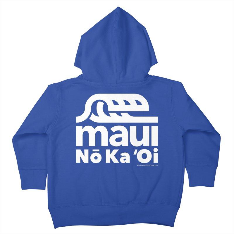 Maui Wave Kids Toddler Zip-Up Hoody by WalkingStick Design's Artist Shop