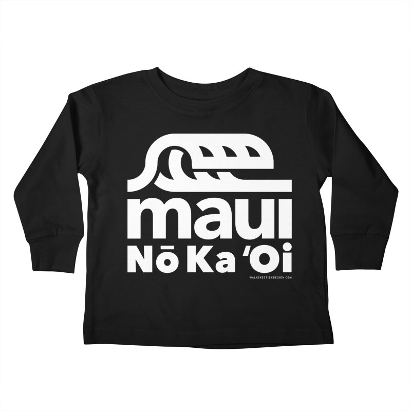 Maui Wave Kids Toddler Longsleeve T-Shirt by walkingstickdesign's Artist Shop